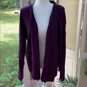 Eileen Fisher Purple Cardigan size L